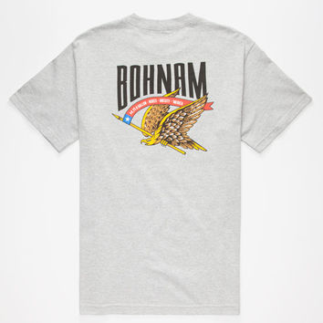 Bohnam Eagle Eyes Mens T-Shirt Heather Grey  In Sizes