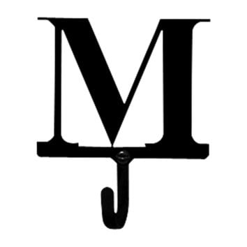 Wrought Iron Letter M Wall Hook Small