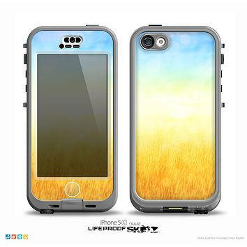 The Painted Tall Grass with Sunrise Skin for the iPhone 5c nüüd LifeProof Case