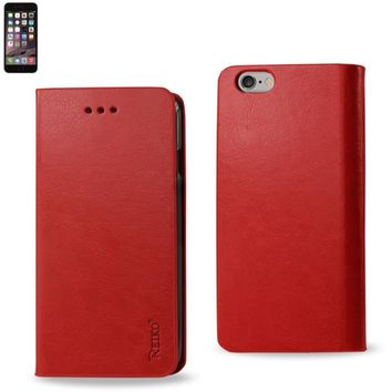 Reiko Reiko Iphone 6 Plus Flip Folio Case With Card Holder In Red