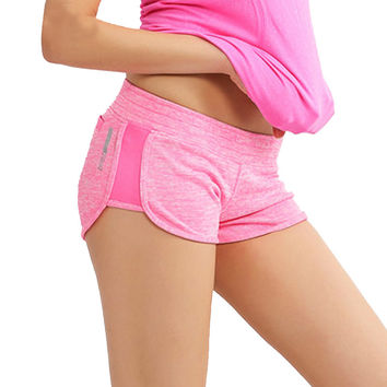 Elastic waist women shorts