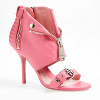 MOSCHINO 'Moto Jacket' Leather Sandal