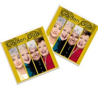 The Golden Girls Coasters, Golden Girls Decor, 80s tv shows, Betty White, Thank you for being a friend, friend gift, retro coasters, girls