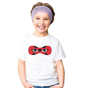 Cosplay Marinette Cartoon Kids Girls Ladybug T Shirt Cat Noir Miraculous T-shirts Children Tees short sleeve summer Tops kids