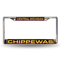 Central Michigan Chippewas NCAA Laser Chrome License Plate Frame