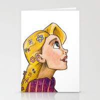 Rapunzel's Gaze  Stationery Cards by Trinity Bennett