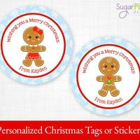 PRINTABLE Christmas Gift tags, Christmas Stickers, Christmas Tags, Christmas Treat Tags, Christmas Party Supplies 2.5 inch Circle,