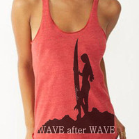 WAVE after WAVE Surfer T-Shirt Graphic, Meditation Tee, Unisex Graphic, Made in the USA, Best T-Shirts, Valentine's Day Gift Ideas