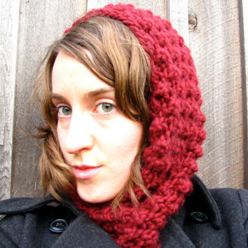 Chunky Cowl Scarf Snood Knitted Neckwarmer in by GretaHoneycutt