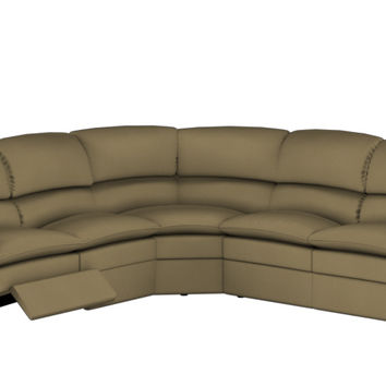 Large Reclining True Sectional Fabric Sofa Pembina by Palliser