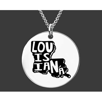 Louisiana State Necklace | Personalized State Necklace