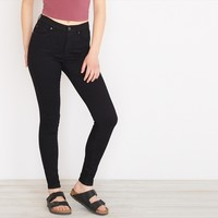 Black Retro High Waist Jegging