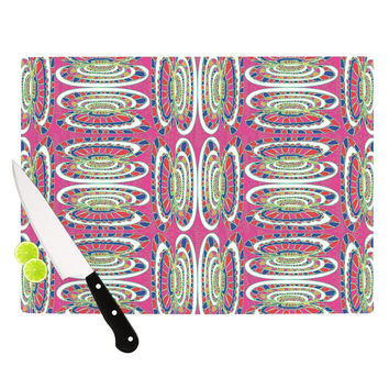 "Miranda Mol ""Bohemian Wild"" Pink Abstract Cutting Board"