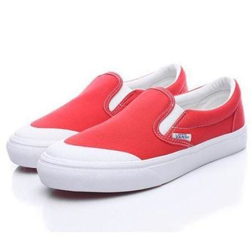 VLXZRBC Vans Era Half Moon BILLY's Slip-On Canvas Flats Sneakers Sport Shoes