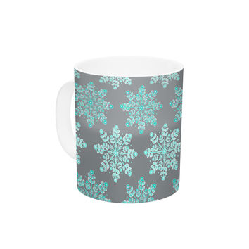 "Anchobee ""Blue Christmas"" Blue Gray Ceramic Coffee Mug"