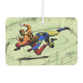Vintage Retro American Football Players Old Comics Car Air Freshener