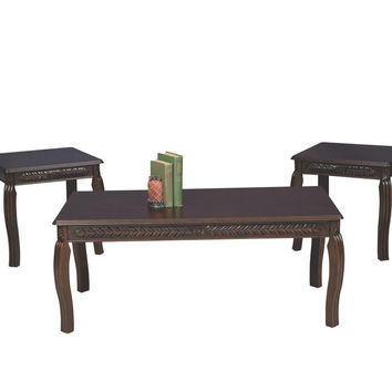 Dark Cherry Coffee Table Set by Serta Upholstery
