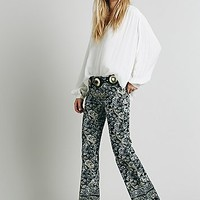 Free People Womens New Delhi Border Flare