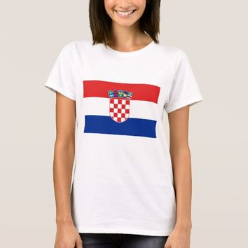 Women T Shirt with Flag of Croatia