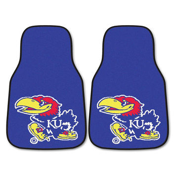 Kansas Jayhawks NCAA Car Floor Mats (2 Front)