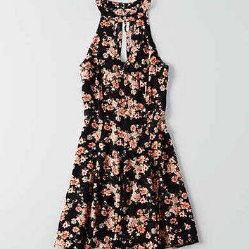 AEO Keyhole Dress, Black