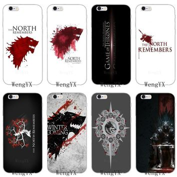 The North Remembers game of throne Slim Soft phone case For HTC One A9 M10 M7 M8 M9 E9 plus Desire 530 626 628 630 816 820 U11