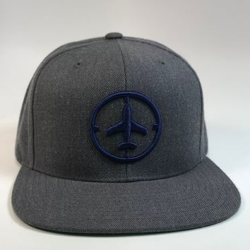 Heather Gray/Navy Logo