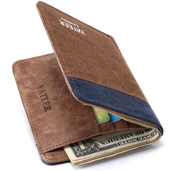 Men's Wallets Canvas Card Holder