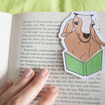 Magnetic bookmark of Gabby the Goat! Book accessories, Childrens art, School supplies, Book gift, Animal collectibles, BOOK FARM ANIMALS
