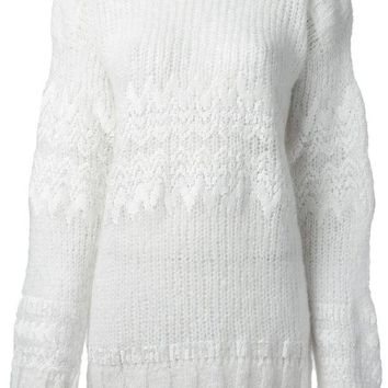 ONETOW Aviù fair isle sequin detail sweater
