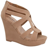 Strut It Wedge-Tan