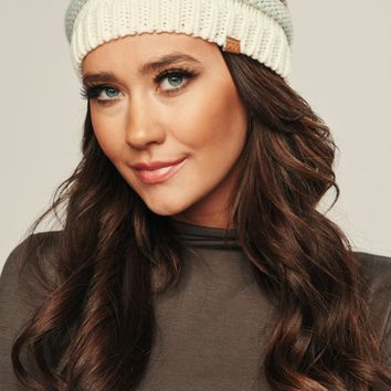 Becky Hair Knitted Beanie (Ivory)