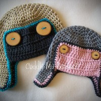 Aviator Hat Crochet ... by CuddleMeBeanies | Crocheting Pattern