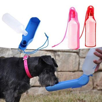 LMFYN5 water dog cat feeding bottle travel portable automatic dispenser products for dogs mascotas