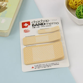 1pcs Band Aid Series Memo Pad Post It Stickers Sticky Notes Paper Notepad Kawaii Stationery Office Papeleria