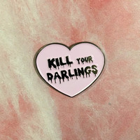 Kill Your Darlings lapel pin Better picture is coming soon! Graphic designer Hipster Troubled Artist