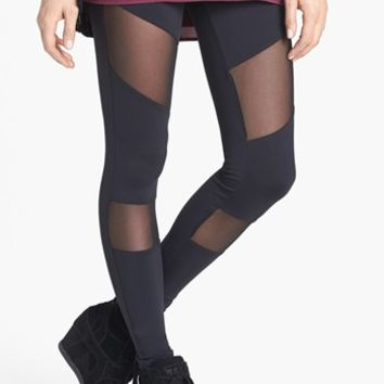 BP. Mesh Panel Leggings (Juniors) | Nordstrom