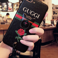 GUCCI Fashion Print iPhone Phone Cover Case For iPhone 6/6S,7PLUS,8,8PLUS