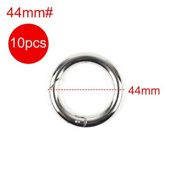 Ourpgone 2017 New Outdoor Plated Gate Spring Ring Buckles Round Push Trigger Style Snap Hooks for Purses Handbags Pets Collar