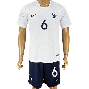 2018 World Cup France Team Football Clothes Football Shirt Football Jersey Soccer Jersey Soccer Uniform (2 Piece)