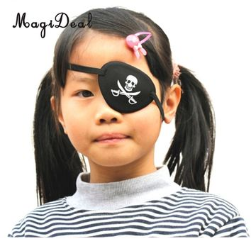 MagiDeal Pirate Skull/Blank Eye Patch Mask Costume Cosplay