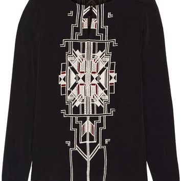 DAY Birger et Mikkelsen - Embroidered crepe top