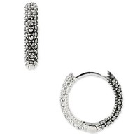Women's Judith Jack Reversible Hoop Earrings - Marcasite / Crystal