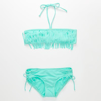 Full Tilt Fringe Hipster Girls Bikini Set Mint  In Sizes