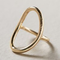 Open Frame Ring by Anthropologie Gold