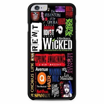 Famous Broadway Musiacal Plays Collage iPhone 6 Plus / 6S Plus Case