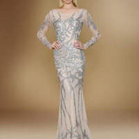 Long Sleeve Dresses - Rina di Montella Social Occasions 1709 Sleeves