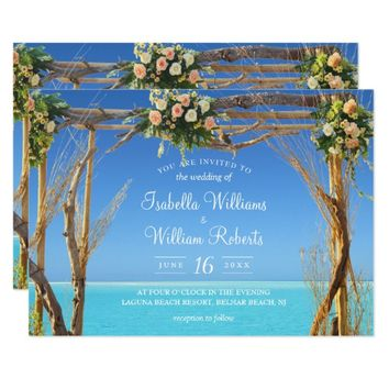 Floral Boho Summer Beach Wedding Gate Invitation