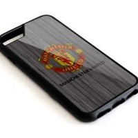 Manchester United FC Wood Texture iPhone 5 5s 5c 6 6s 7 Plus Phone Case Cover
