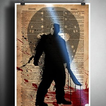 Friday the 13th, Jason Voorhees, horror movie art, myths and monsters